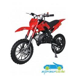 Moto infantil de gasolina CROSS KRX 701 ROJA 49CC 2 TIEMPOS