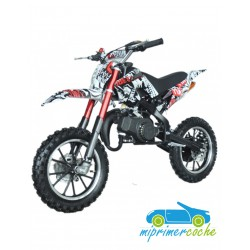 Moto infantil de gasolina CROSS KRX 701 COLOR BLANCO 49CC 2 TIEMPOS