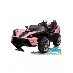 TRIKE SPORT 4X4 rosa 12v 2 PLAZAS mando 2.4 G