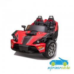 TRIKE SPORT 4X4 rojo 12v 2 PLAZAS mando 2.4 G