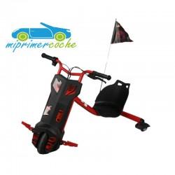 Triciclo Eléctrico POWER DRIFT 360º color rojo