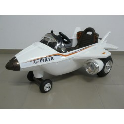 Vehículo Eléctrico para niños AVIÓN CAZA F-18 12V Blanco control remoto 2.4G