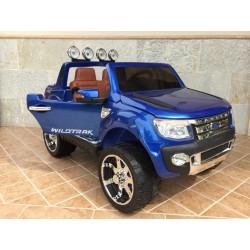 FORD RANGER PICK-UP AZUL METALIZADO 12V con mando 2.4G y ruedas de caucho