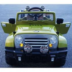 Coche eléctrico infantil JEEP WRANGLER STYLE verde  12v con mando a distancia 2.4G