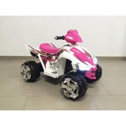 Quads eléctrico infantil MI PRIMER COCHE 12V color blanco/rosa