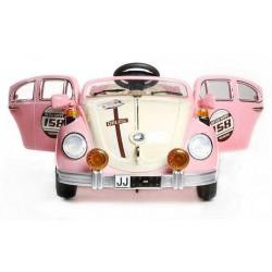 Coche Eléctrico Infantil ESCARABAJO BEATLE STYLE 12v color rosa con mando distancia