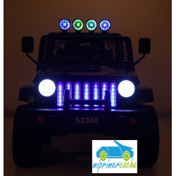 Coche Electrico Infantil MONSTER JEEP 4X4 NEGRO METALIZADO 2 PLAZAS