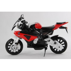 Moto eléctrica para niños BMW S1000 RR ROJO  12V  con ruedas neumática