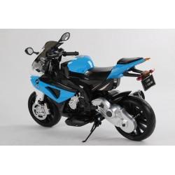 Moto eléctrica para niños BMW S 1000 RR AZUL  12V  con ruedas neumática