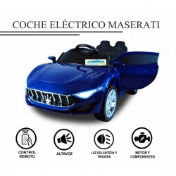 Coche Eléctrico Infantil MASERRATI  STYLE AZUL 12V mando distancia  2.4G