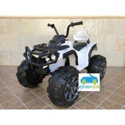 Quads Eléctrico para Niños 906D 12V  color BLANCO con mando parental 2.4G