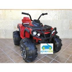 Quads Eléctrico para Niños 906D 12V  color rojo con mando parental 2.4G