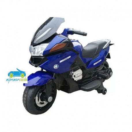 Moto eléctrica para niños BMW STYLE R1200RT AZUL 12V