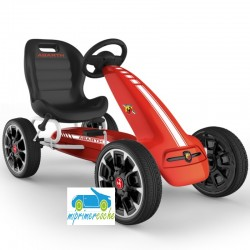 Kart a Pedales para niños FIAT ABARTH ROJO