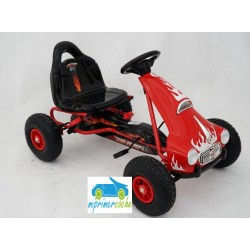 Kart a Pedales para niños FLAME ROJO