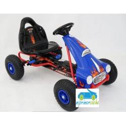 Kart a Pedales para niños FLAME AZUL