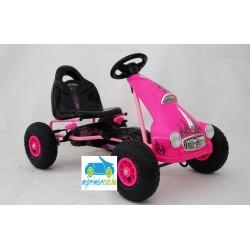 Kart a Pedales para niños FLAME ROSA