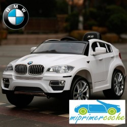 Coche Eléctrico Infantil BMW X6 BLANCO 12v mando parental 2.4G