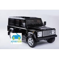 Coche eléctrico para niños LAND ROVER DEFENDER 12V NEGRO con mando a distancia 2.4G y ruedas de caucho