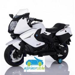 Moto eléctrica para niños BMW STYLE C650 GT BLANCO  12V  con maletero