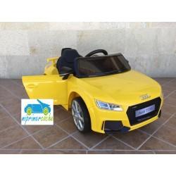 Coche eléctrico para niños AUDI TT RS AMARILLO 12V  control parental2.4G