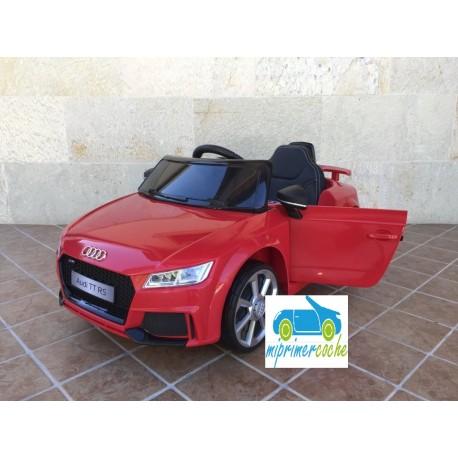Coche eléctrico para niños AUDI TT RS ROJO 12V  control parental2.4G