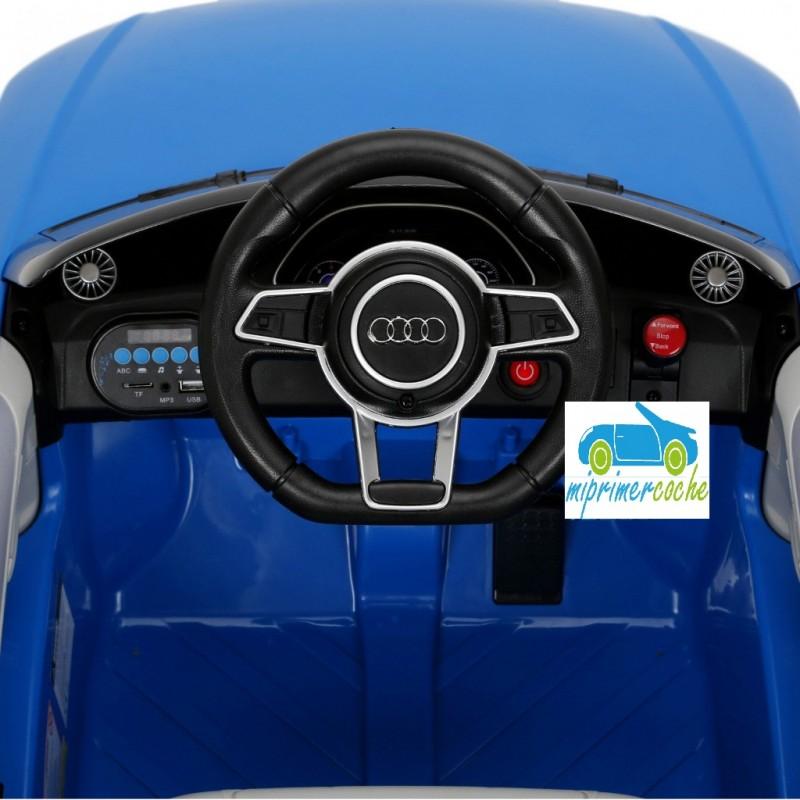 Coche Eléctrico Barato Para Niños Audi Tt Rs Azul12v Con Mando 24g