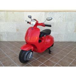 Moto Eléctrica para niños VESPA STYLE 12V color rojo