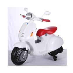 Moto Eléctrica para niños VESPA STYLE 12V color blanco
