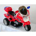 Moto eléctrica para niños Trimoto POLICIA 12V color rojo