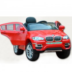 Coche Eléctrico Infantil BMW X6 ROJO 12v mando parental 2.4G