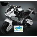 Moto eléctrica para niños BMW S1000RR PLATA 12V  con ruedas neumáticas