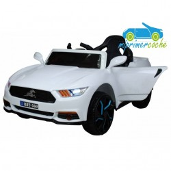 Coche Eléctrico Infantil FORD MUSTANG STYLE BLANCO 12V con mando 2.4G
