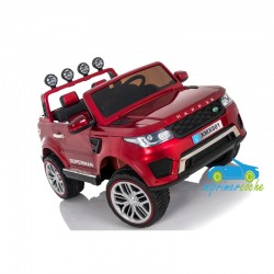 DISCOVERY STYLE ROJO METALIZADO 12v 4x4 CON VIDEO MP4 2 PLAZAS