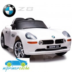 Coche Eléctrico Infantil BMW Z8 Blanco  12v mando parental 2.4G