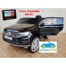 VOLKSWAGEN TOUAREG 12V Negro con Pantalla video MP4 y mando 2.4