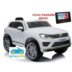 VOLKSWAGEN TOUAREG 12V BLANCO con pantalla video MP4 con mando 2.4G