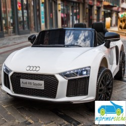 ÁUDI LITTLE R8 SPYDER BLANCO 12V  2.4G
