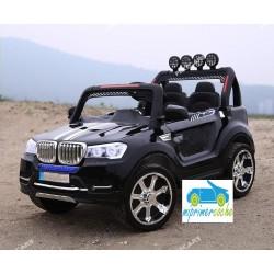 BMW X7 STYLE NEGRO 4X4  12v 2 plazas 2.4G