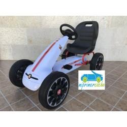 Kart a Pedales para niños FIAT ABARTH BLANCO