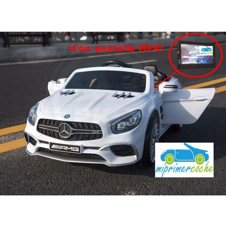 MERCEDES  SL65 BLANCO 12V PANTALLA MP4 mando distancia  2.4G