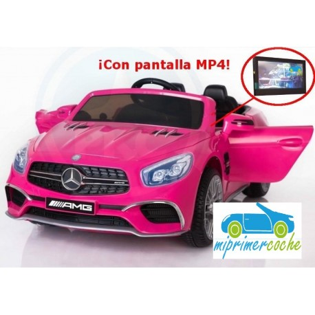 MERCEDES SL65 ROSA 12V PANTALLA MP4   2.4G
