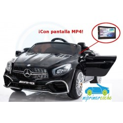 MERCEDES  SL65 NEGRO 12V Pantalla video mp4  2.4G