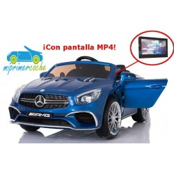 MERCEDES  SL65 AZUL 12V Pantalla Video MP4  2.4G