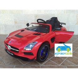 MERCEDES  SLS   ROJO12V mando distancia  2.4G  y video MP4