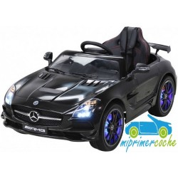 MERCEDES BENZ SLS  negro 12V pantalla video mp4 2.4G