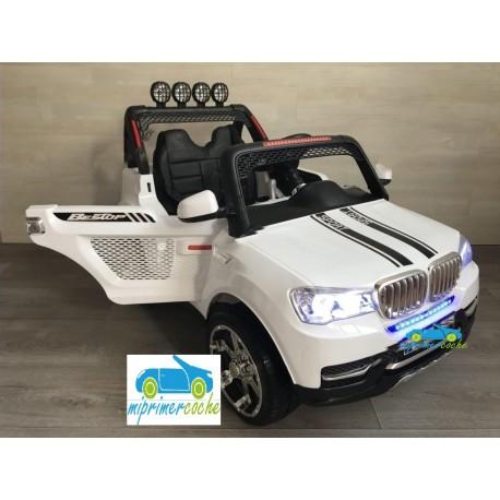BMW X7 STYLE BLANCO 4X4  12v 2 plazas 2.4G