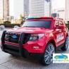 Coche eléctrico para niños POLICÍA rojo12V con mando a distancia 2.4G
