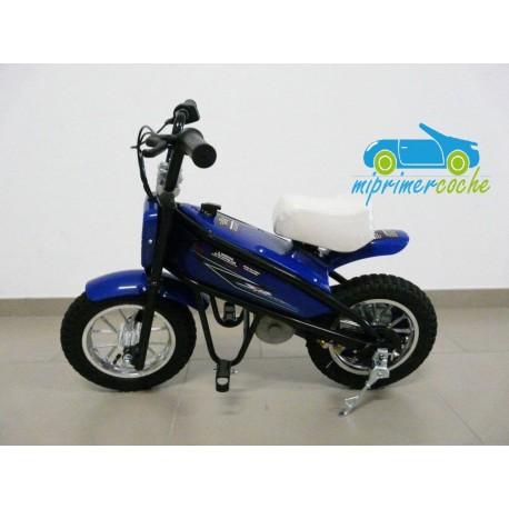 Moto eléctrica para niños 24V 200W color azul