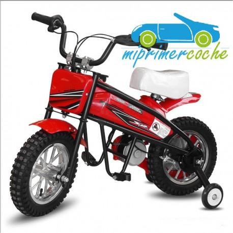 Moto eléctrica para niños 24V 200W color rojo